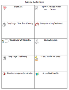 Reflective Question Stems for Students and Teachers