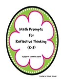 Reflective Questions for Mathematical Thinking - Part I