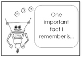 Reflective Sentence Starter Robots