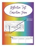 Reflective Test Correction Form