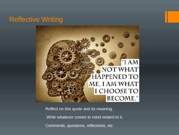 Reflective Writing, Choices, Warm Up, Journal Prompts