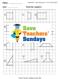 Reflective symmetry (with shapes) lesson plans, worksheets and more