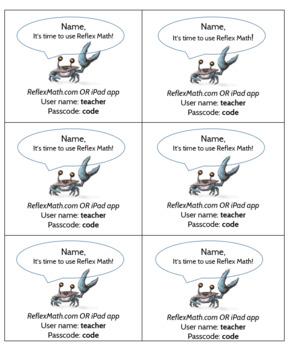 Reflex Login Cards