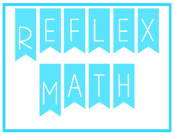 Reflex Math Celebration Signs