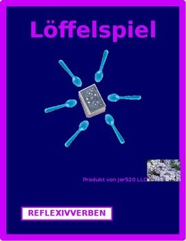 Reflexivverben (German Reflexive verbs) Spoons game / Uno game