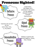 Reflexive, Object, Demonstrative Pronouns Anchor Chart