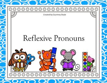 Reflexive Pronoun Task Cards