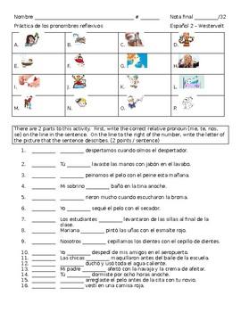 Reflexive Pronoun Worksheet