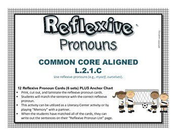 Reflexive Pronouns Activitiy (Common Core Aligned L.2.1.C)