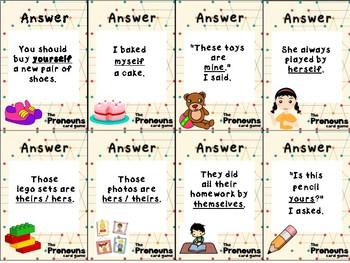 Reflexive Pronouns Card Game