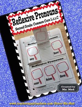 Reflexive Pronouns Common Core Second Grade L.2.1.C Interactive Notebooks