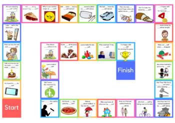 Reflexive Pronouns Creative Sentence Board Game