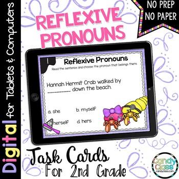 Reflexive Pronouns Digital Task Cards - Paperless Option