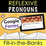 Reflexive Pronouns Distance Learning - Google Forms Quizze