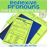 Reflexive Pronouns Interactive Notebook - Reflexive Pronouns Worksheets Booklet