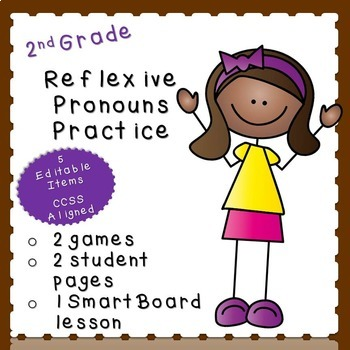 Reflexive Pronouns Practice-EDITABLE! (second grade)