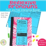 Reflexive Pronouns Print and Fold Grammar Booklets for Interactive Notebooks