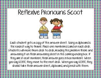Reflexive Pronouns Scoot
