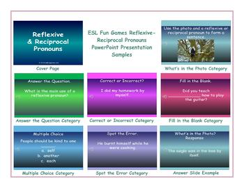 Reflexive-Reciprocal Pronouns PowerPoint Presentation