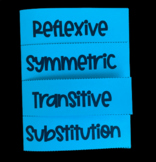 Reflexive, Symmetric, Transitive, & Substitution Properties (Foldable)