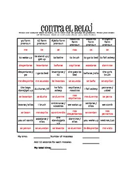 Spanish Reflexive Verb Against the Clock