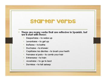 Spanish Reflexive Verb Notes