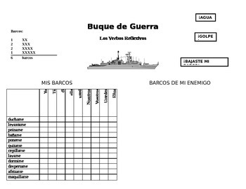 Reflexive Verb Battleship