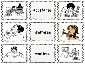 Reflexive Verb Memory Game