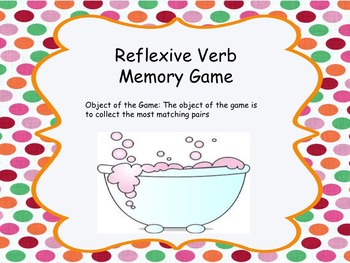 Reflexive Verb Memory Game
