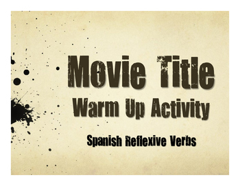 Spanish Reflexive Verb Movie Titles
