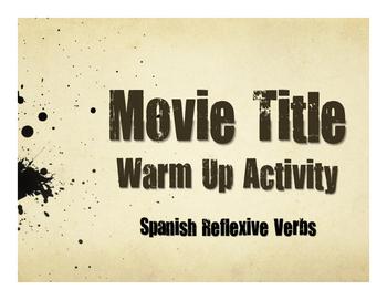 Spanish Reflexive Verb Movie Titles