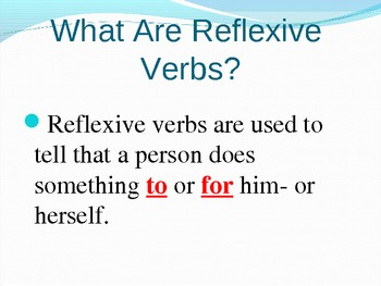 Reflexive Verb Powerpoint full lesson
