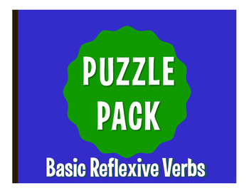 Spanish Reflexive Verb Puzzle Pack