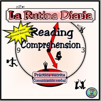 Reflexive Verb Reading Comprehension Activity -La Rutina Diaria y Los Reflexivos