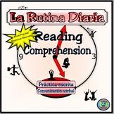 Reflexive Verb Reading Comprehension Activity -La Rutina D