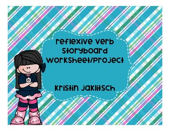 Reflexive Verb Storyboard Worksheets