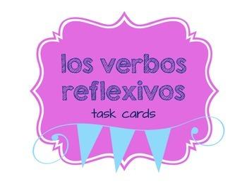 Spanish Reflexive Verb Task Cards