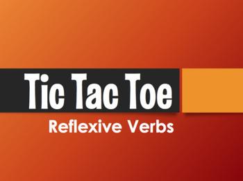 Spanish Reflexive Verb Tic Tac Toe Partner Game