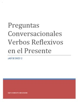 Reflexive Verbs Conversational Questions (Basic to Intermediate)