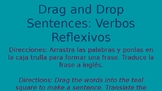 Reflexive Verbs - Drag and Drop sentences