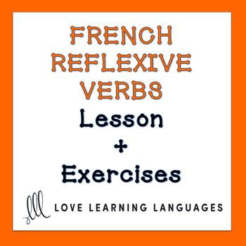 French Reflexive Verbs Lesson + Exercises - Verbes Réfléchis