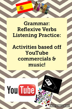 Reflexive Verbs - Listening Practice: activities based off YouTube commercials