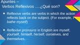 Reflexive Verbs PowerPoint- Notes, Stories, Activities, Practice