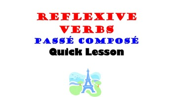 Reflexive Verbs, Reflexive Pronouns (Passe Compose): French Quick Lesson