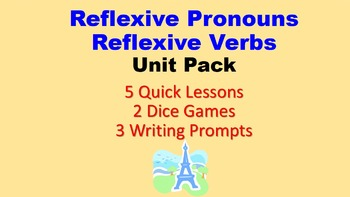 Reflexive Verbs, Reflexive Pronouns in French: Unit Pack