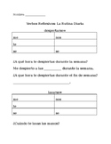 Reflexive Verbs -Scaffolded Notes Healthy Habits