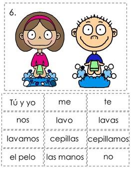 Reflexive Verbs Spanish Sentence Writing Station Activities