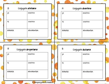 Reflexive Verbs Spanish Task Cards - Los verbos reflexivos