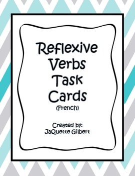 Reflexive Verbs Task Cards Activity