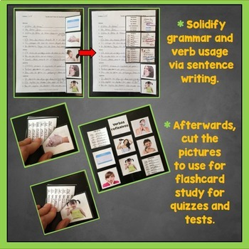 Spanish Reflexive Verbs Interactive Notebook Trifold Flashcards